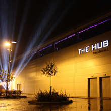 The Hub at night